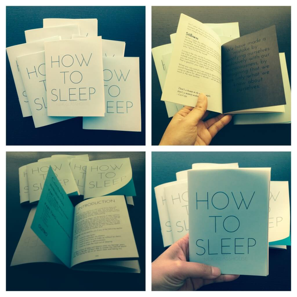 How To Sleep zine